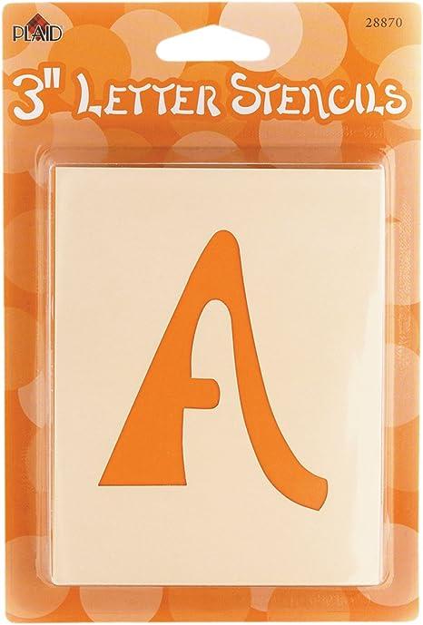 2-Inch Letter Size 30618 Value Pack FolkArt Die Cut Paper Stencil