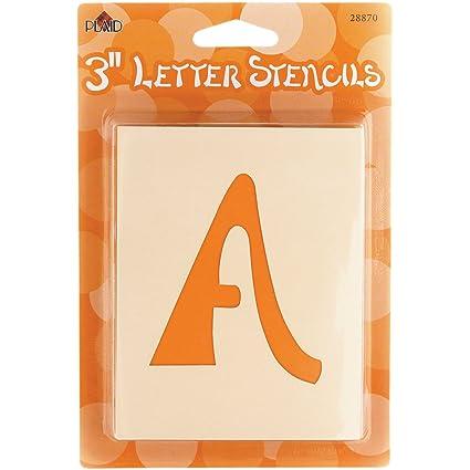Amazon.com: Plaid Letter Stencil Value Pack (3 Inch), 28870