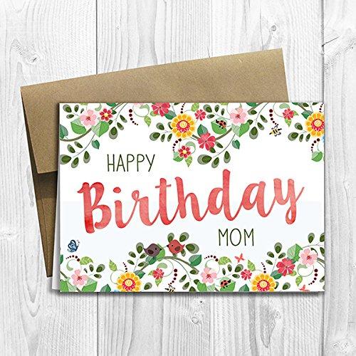 Amazon happy birthday mom greeting card 5x7 size blank happy birthday mom greeting card 5x7 size blank inside m4hsunfo