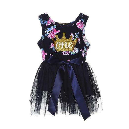 b6faa74e7 Amazon.com  Winsummer Baby Girls Sleeveless Flower Crown Printed ...