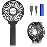 VersionTECH. Mini Handheld Fan, USB Desk Fan, Small Personal Portable Table Fan with USB Rechargeable Battery Operated…