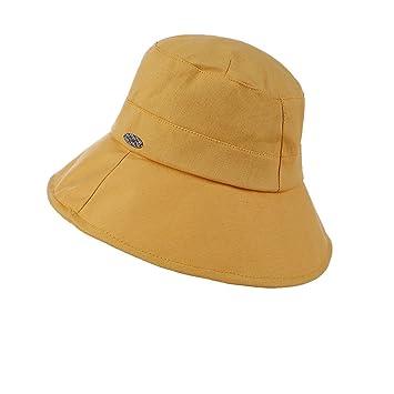 MKHDD Sombrero del Sol del Cubo del Pescador De Las Mujeres Plegable UPF 50+ Sombrero
