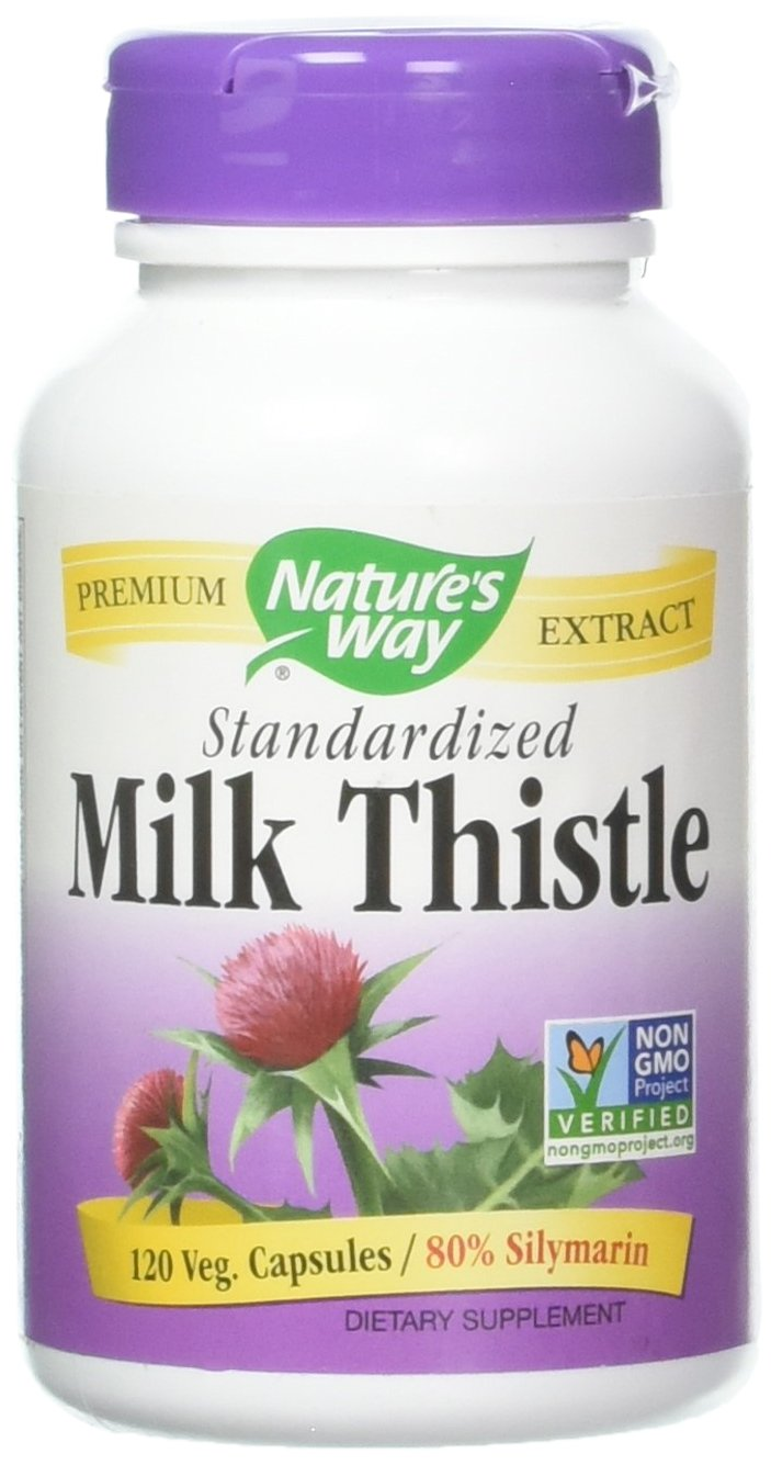 Natures Way Milk Thistle Standardized, 120 Count