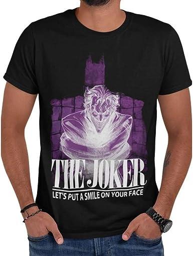 I-D-C Batman - Joker Asylum Jacket Camiseta Unisex Adulto: Amazon.es: Ropa y accesorios
