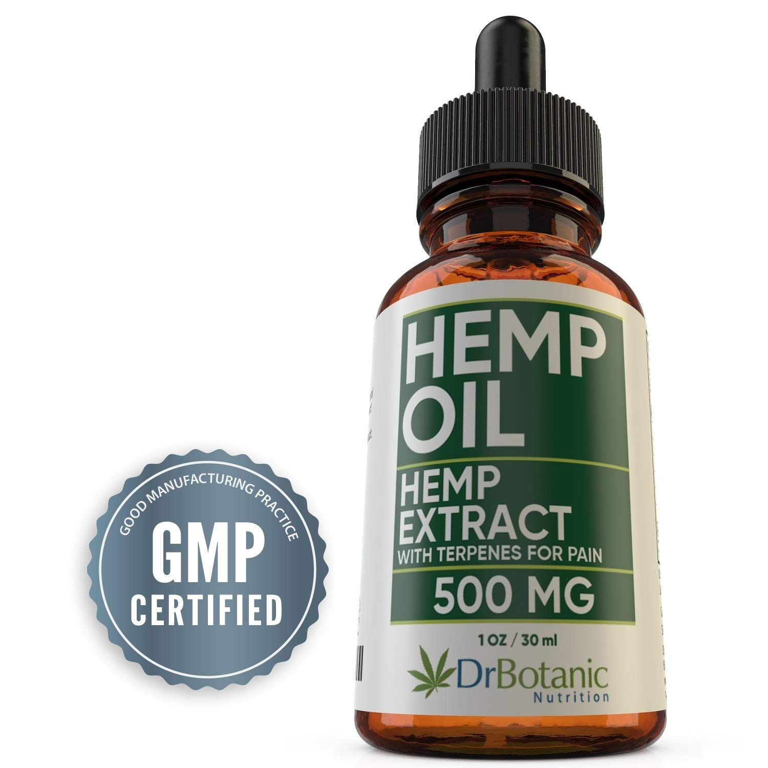 Hemp Oil for Pain: With 500 mg Hemp Extract for Pain, Stress and Anxiety