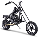 SAY YEAH Gas Scooter Mini Dirt Pit Bike 2 Stroke Kids Mini Chopper,Powerful 49cc EPA Engine Motorized Bike for Boys and Girls,Non California Compliant,Black