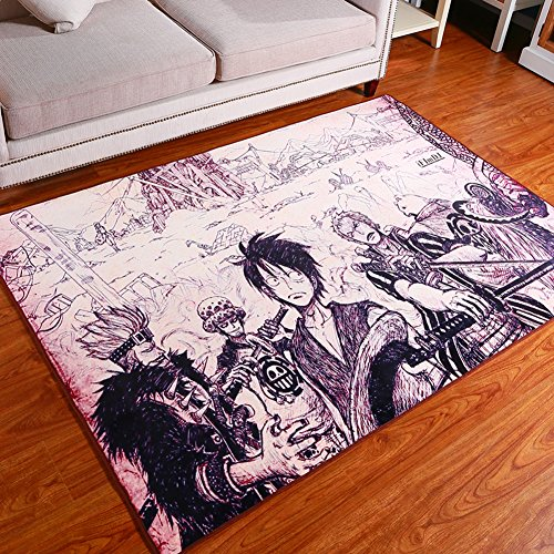 Sport Do Japanese Anime One Piece Rectangle Bedroom Bedside Anti Slipping  Mats,Living Room