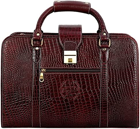 "Da Leather Villa Laptop Briefcase Bag for Men |15.6"" Laptop Compartment| |Expandable Features| |High Security Number Lock| 18 Liters | Color ( Brown)"