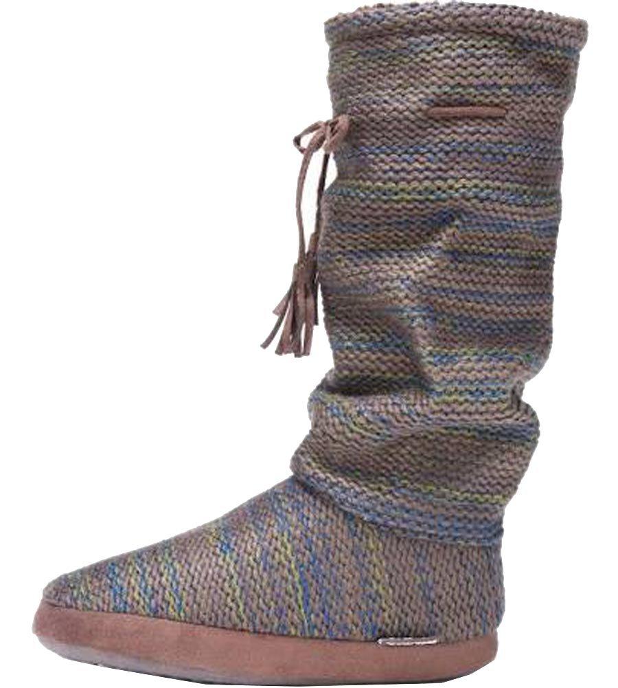 MUK LUKS Women's Tall Grace Tie Slipper Boot,Green,US M M