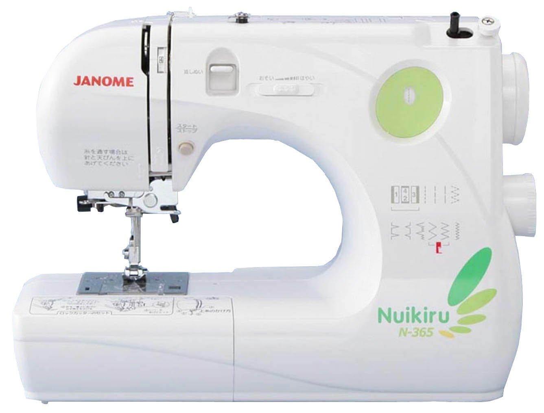 JANOME コンパクト電子速度制御ミシン 【Nuikiru】 N-365  グリーン B0013B6BO4