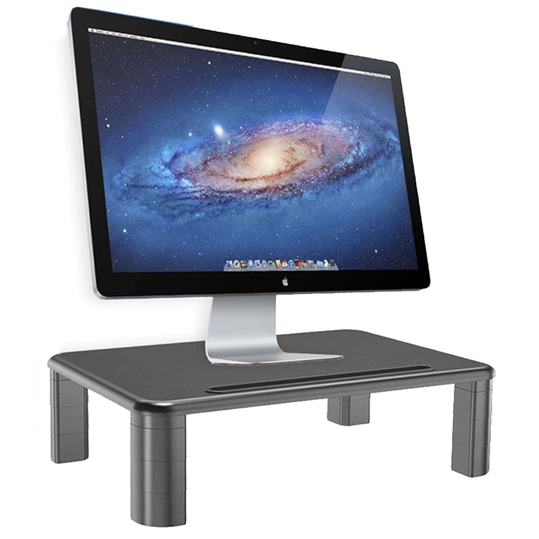 Halter LZ-500 Monitor Stand Riser Height Adjustable Storage Organizer - for PC, iMac, Laptop, Phone & Tablet, Printer