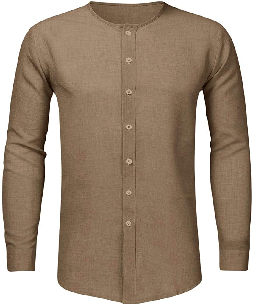Uqiangy Mens Long Sleeve Fashion Casual Slim Fit Comfy Daily Wear Buttons Shirt