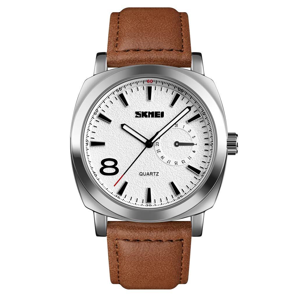 eYotto – reloj de pulso deportivo para hombre, reloj analógico impermeable de estilo militar con LED