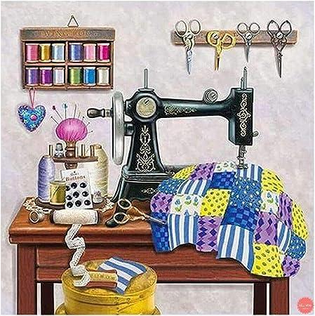 AIYIYOO máquina de coser bricolaje 5D Full Drill Diamond pintura ...