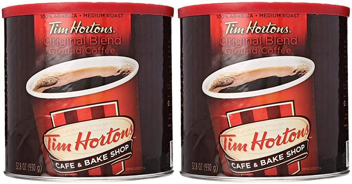 Tim Hortons HBRKMMCX 100% Arabica Medium Roast Original Blend Ground Coffee, 32.8 Ounce, Pack of 2 by Tim Hortons (Image #5)