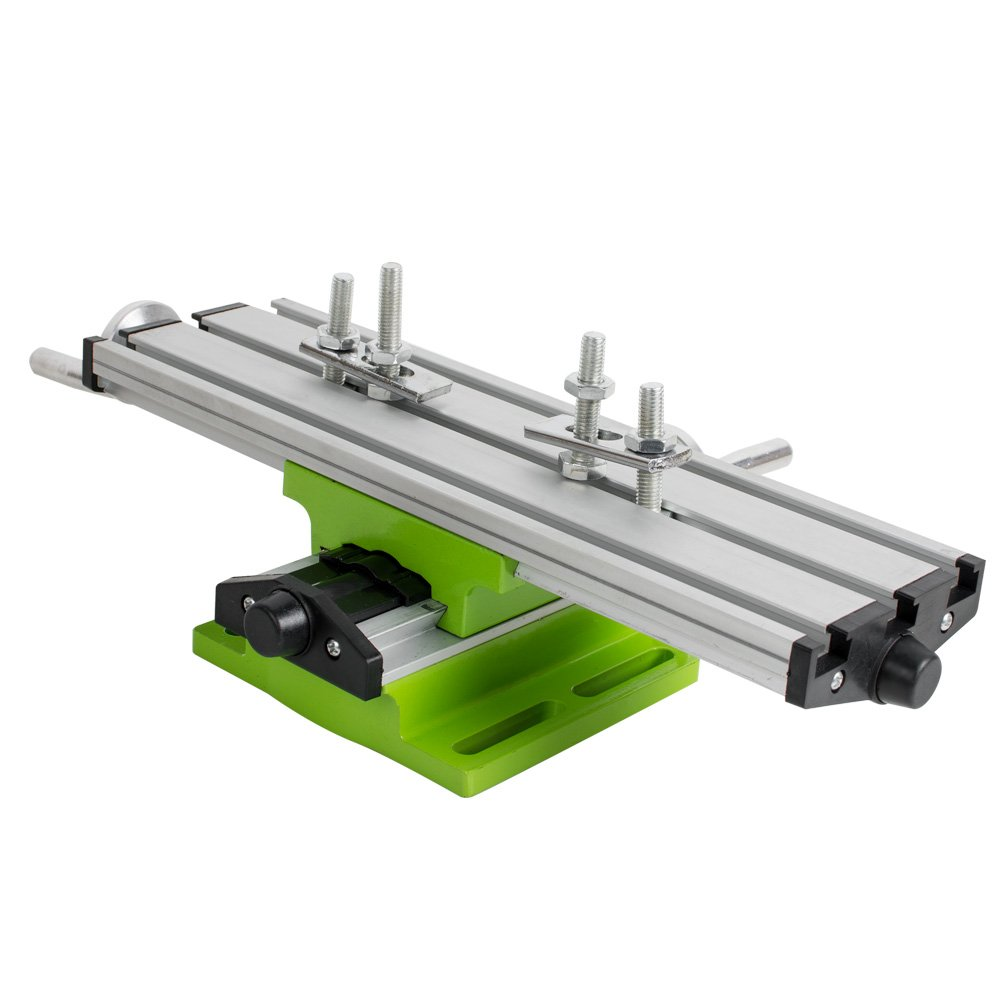 Zinnor Multifunction Worktable Milling Working Table Milling Machine Compound Drilling Slide Table for DIY Bench Drill, Double Rail, Adjustable Pressure (Shipped US)