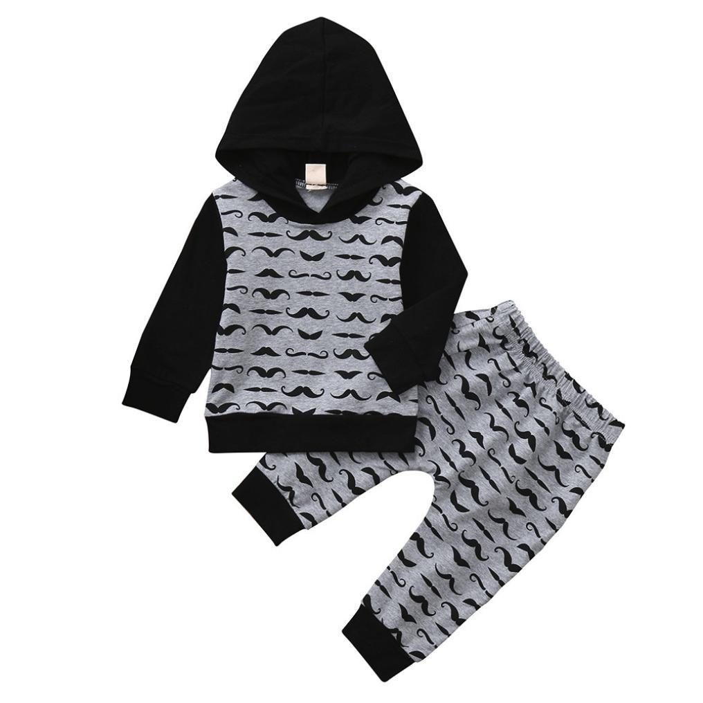 Leey Autunno Completi e Coordinati Ragazzi Outfit Abbigliamento Manica Lunga Maglietta + Pantaloni Lunghi Completino Bambino Elegante con Papillon Camicie 1 2 3 4 5 6 7 Anni