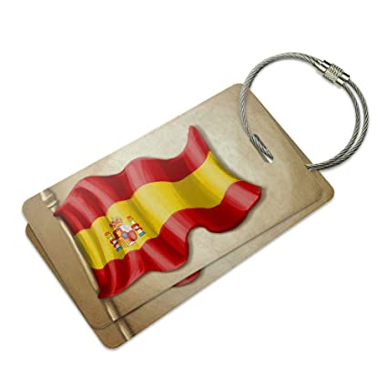 Amazon.com: clásico bandera de España España veliz Bolsa ID ...