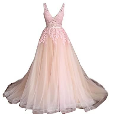 SuperKimJo Soft Tulle Puffy Prom Dresses Cheap Floral Formal Party Dresses