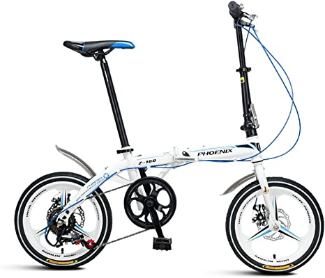 XQ Z160 Bicicleta Plegable Velocidad Variable 16 Pulgadas Adulto ...