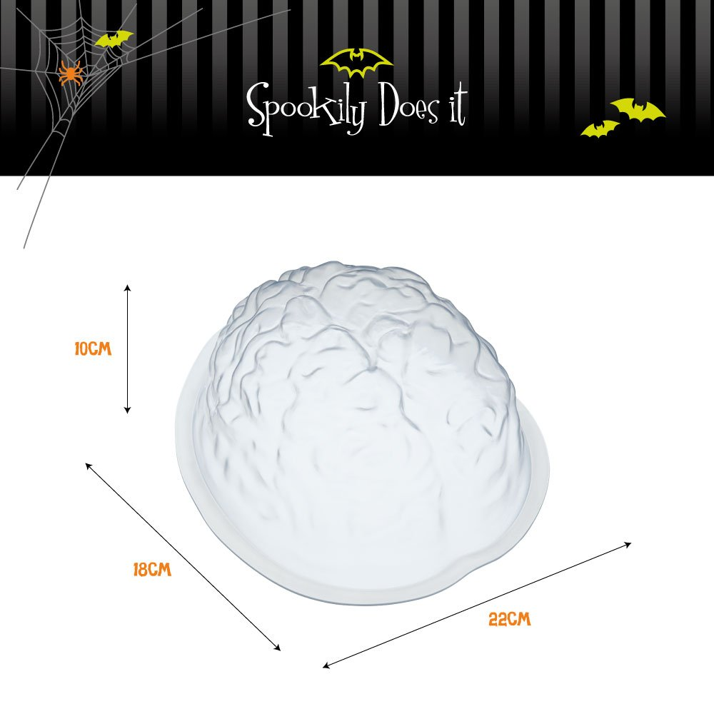 KitchenCraft SPKYJELBRAIN - Molde para gelatina, color blanco: Amazon.es: Hogar