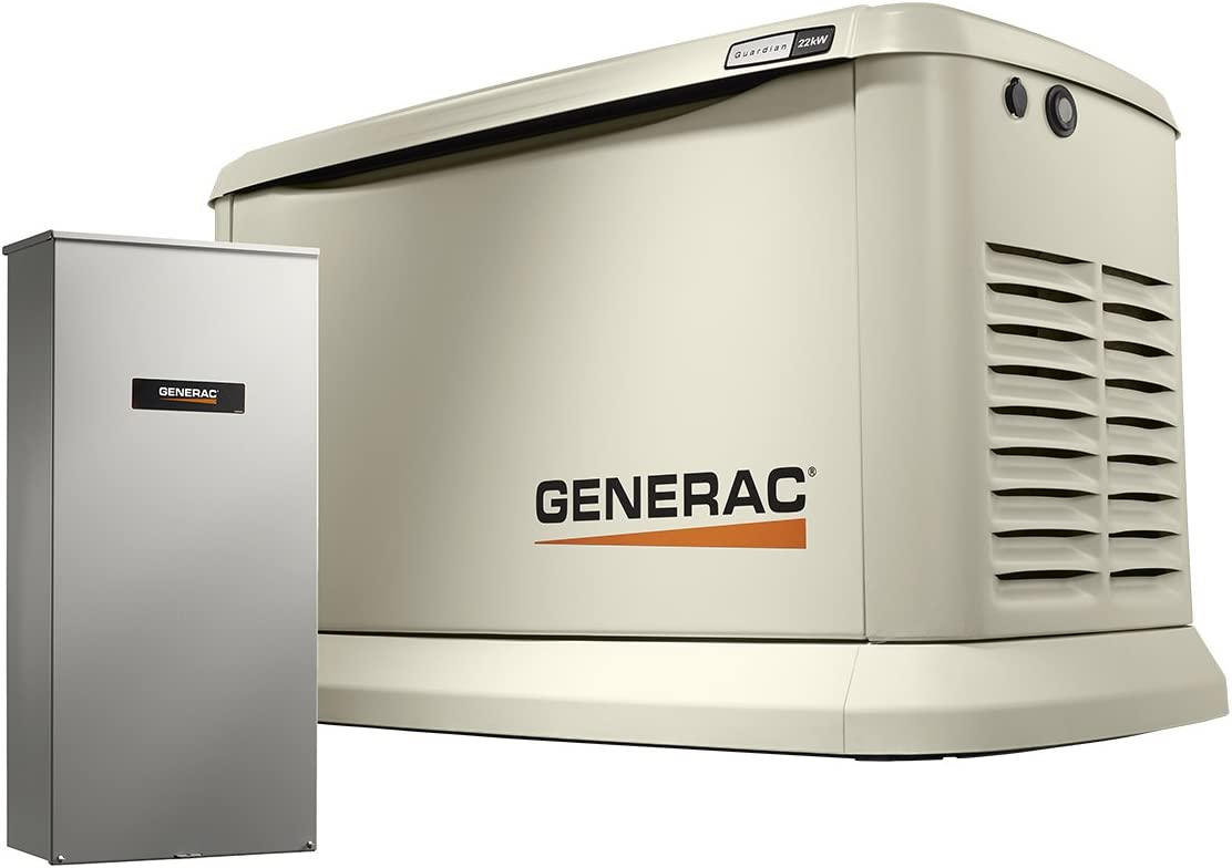 Amazon.com : Generac 7043 Home Standby Generator 22kW/19.5kW Air Cooled  with Whole House 200 Amp Transfer Switch, Aluminum : Garden & Outdoor   Generac 11kw Generator Wiring Schematic      Amazon.com