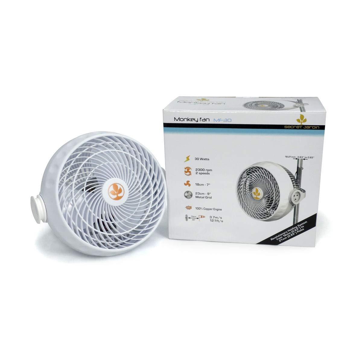 Fan / Air circulator with clip 18cm 30W Secret Jardin (Monkey Fan MF30)
