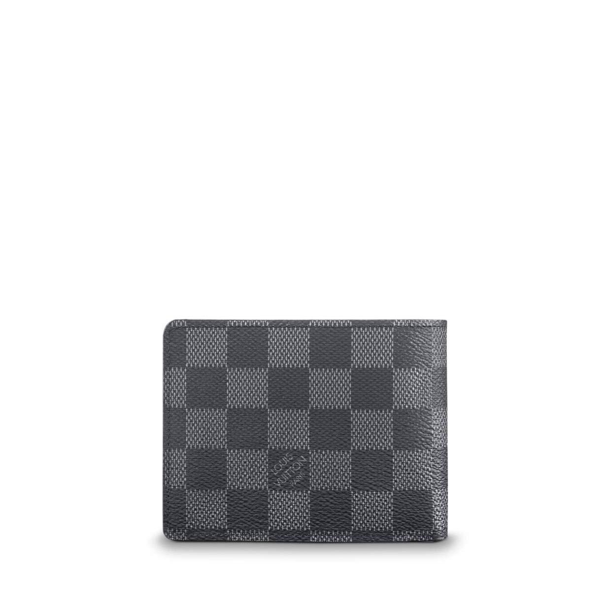 74233d815451a Louis Vuitton Damier Graphite Canvas Multiple Wallet N62663 at Amazon Men s  Clothing store