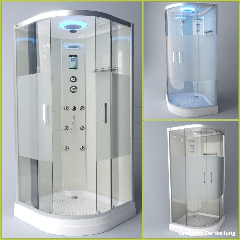 troni técnica ducha Templo cabinas de ducha Ducha Ducha de cristal esquina ducha completo ducha S090 X h2hg02 90 x 90: Amazon.es: Hogar