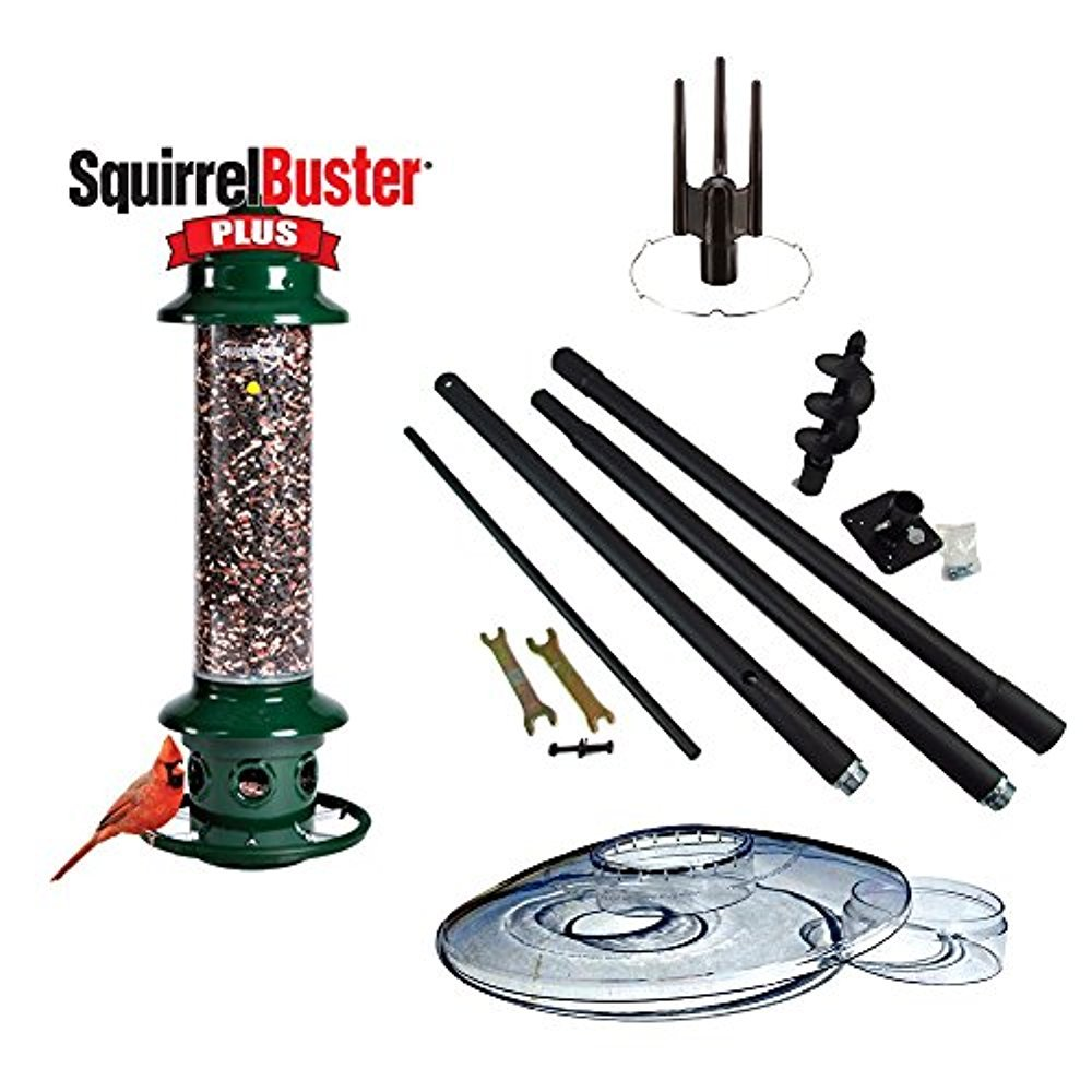 Complete! Brome Squirrel Buster Plus Bird Feeder and Accessory Kit with Weather Guard by Brome / Squirrel Stopper