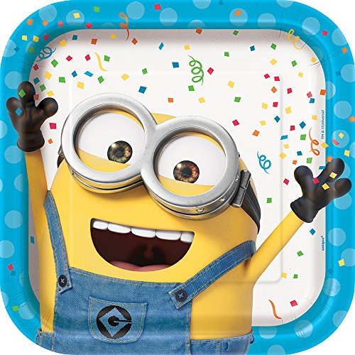 Square Despicable Me Minions Paper Party Plates, 8ct]()