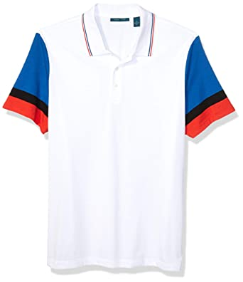 Perry Ellis Mens Color Block Striped Polo: Amazon.es: Ropa y ...