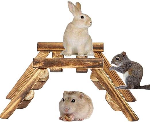 HIMM - Escalera de Puente de Madera, Accesorio de Juguete para Mascotas pequeñas, Puente de Escalada, Escalera de Puente de Madera para hámster pájaro Loro: Amazon.es: Productos para mascotas
