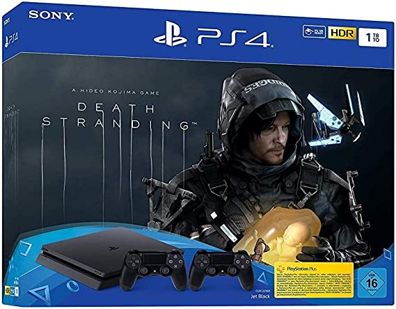 PlayStation 4 Slim inkl. 2 Controller und Death Stranding ...