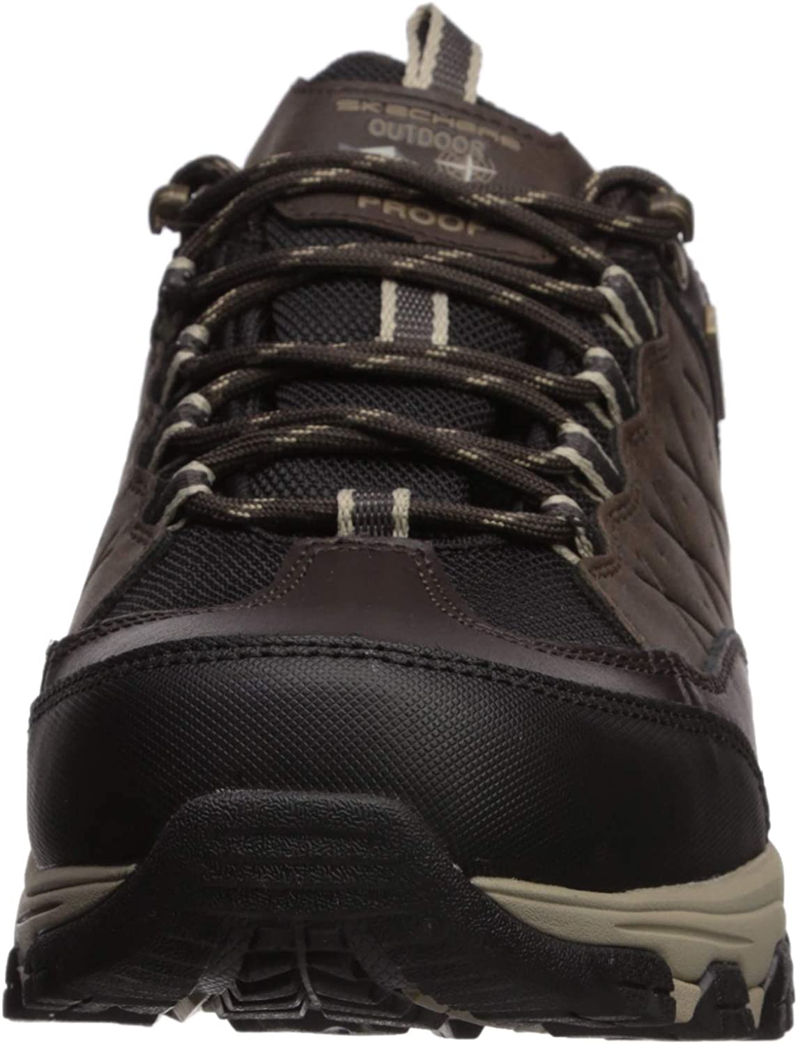 Skechers Mens Outline-SOLEGO Trail Oxford Hiking Shoe