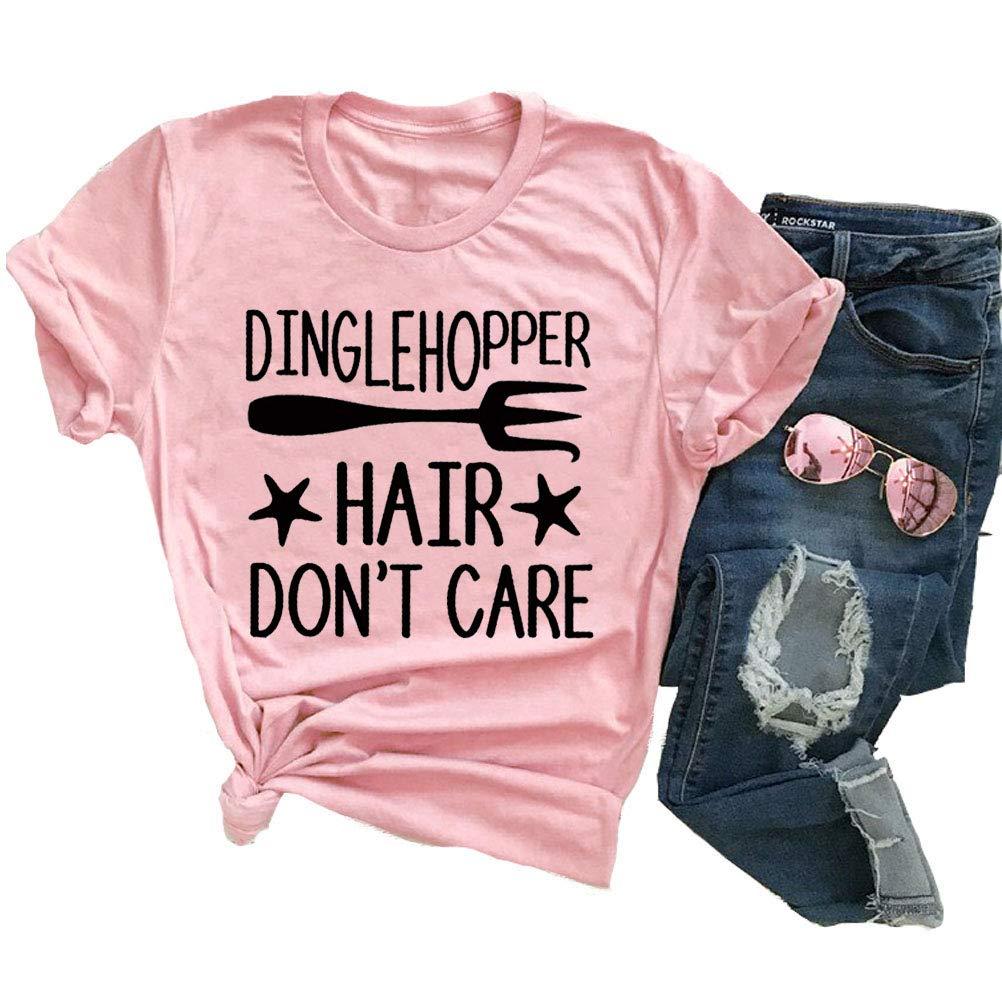 YourTops Dinglehopper Hair Don't Care Women T- Shirt