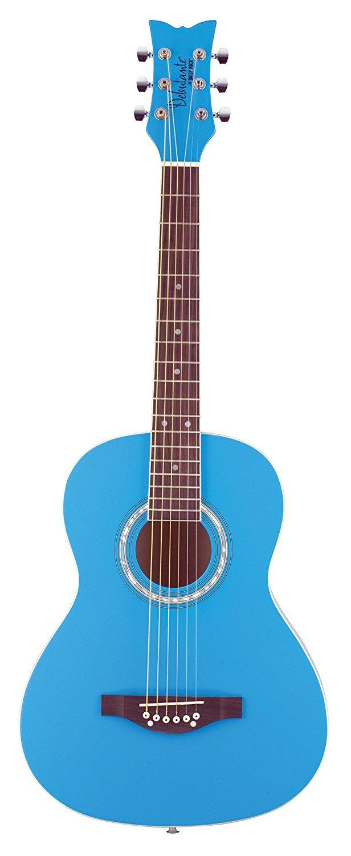 Daisy Rock 6 String Acoustic Guitar, Cotton Candy Blue (DR7402-A-U)