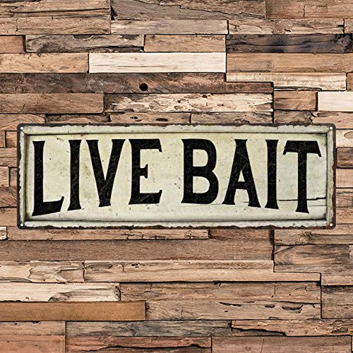 - Live Bait Vintage Looking Shabby Chic Metal Sign Kitchen Home Wall Dcor