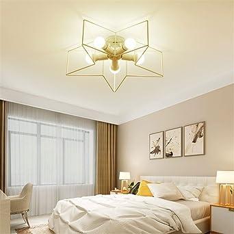 joeyhome Plafoniera moderna simple de metal para dormitorio ...