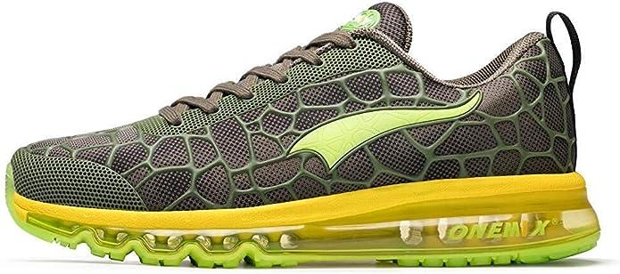 ONEMIX Zapatillas de Deporte con Amortiguación de Aire para Hombres Zapatillas Deportivas Transpirables de Punto de Aire Zapatillas Deportivas Ligeras para Exteriores: Amazon.es: Zapatos y complementos