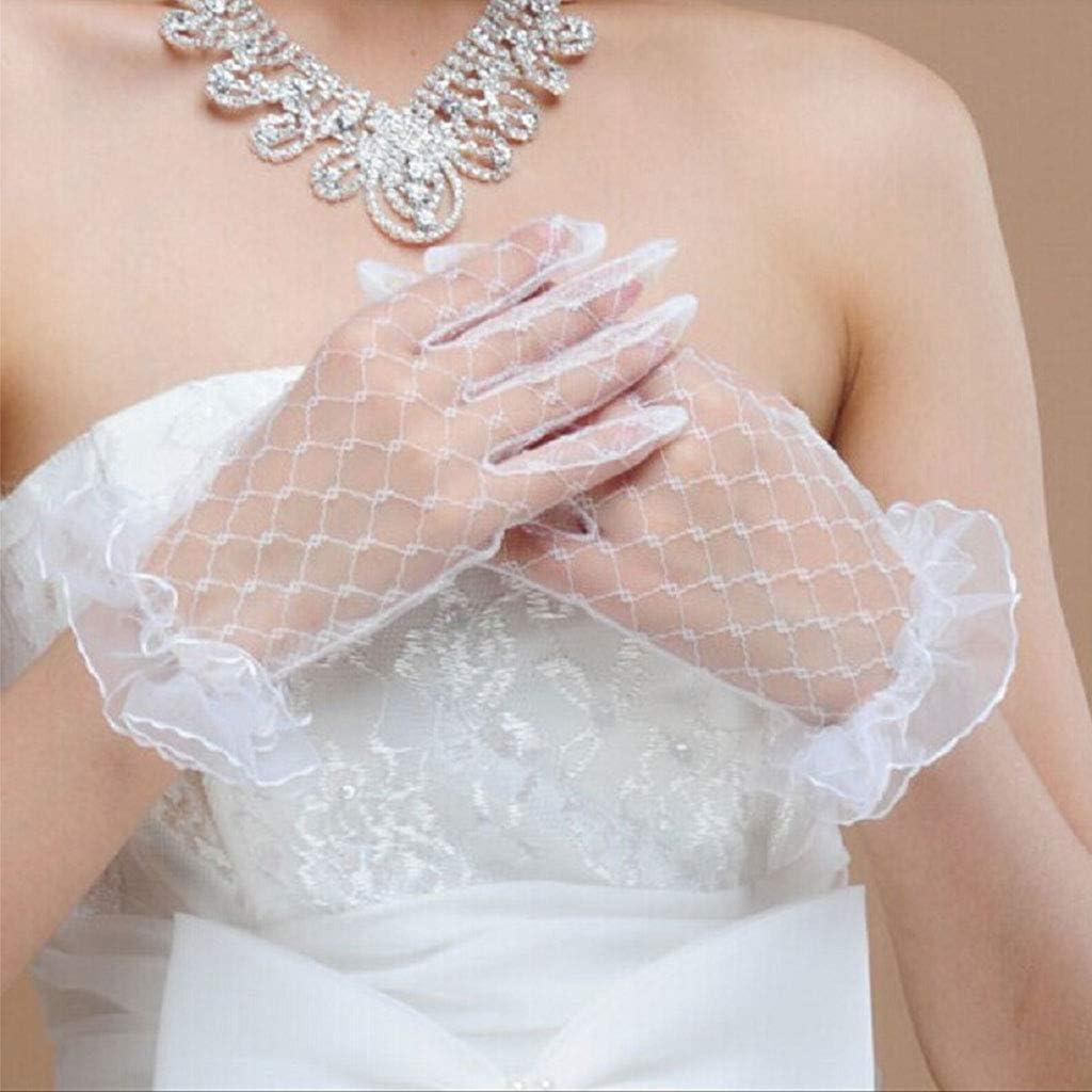 Manyo f/ür Zeremonie Handschuhe Wei/ß Vintage Hochzeitshandschuhe aus Spitze Hochzeit Halloween Zubeh/ör f/ür Verkleidung Damen Damen