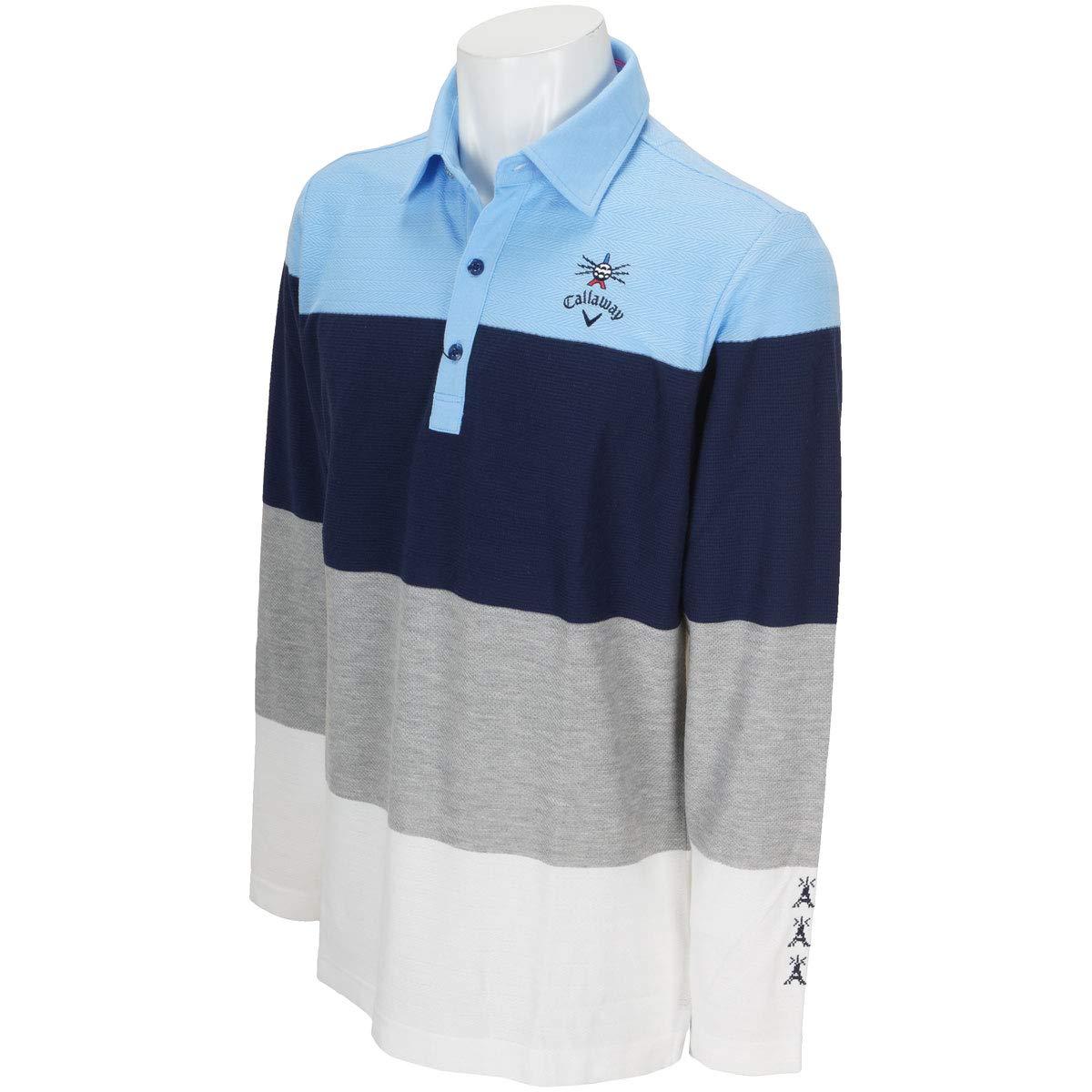 [キャロウェイ] [メンズ] 長袖 ポロシャツ (カラーシャツ) / 241-8256502 / ゴルフ ウェア B0797M1MS7 日本 LL (日本サイズ2L相当)|112_ブルー 112_ブルー 日本 LL (日本サイズ2L相当)