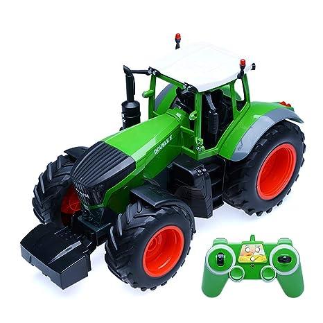 RC Coche Escala 1/16 Juguete Tractor Agrícola con Accesorios ...