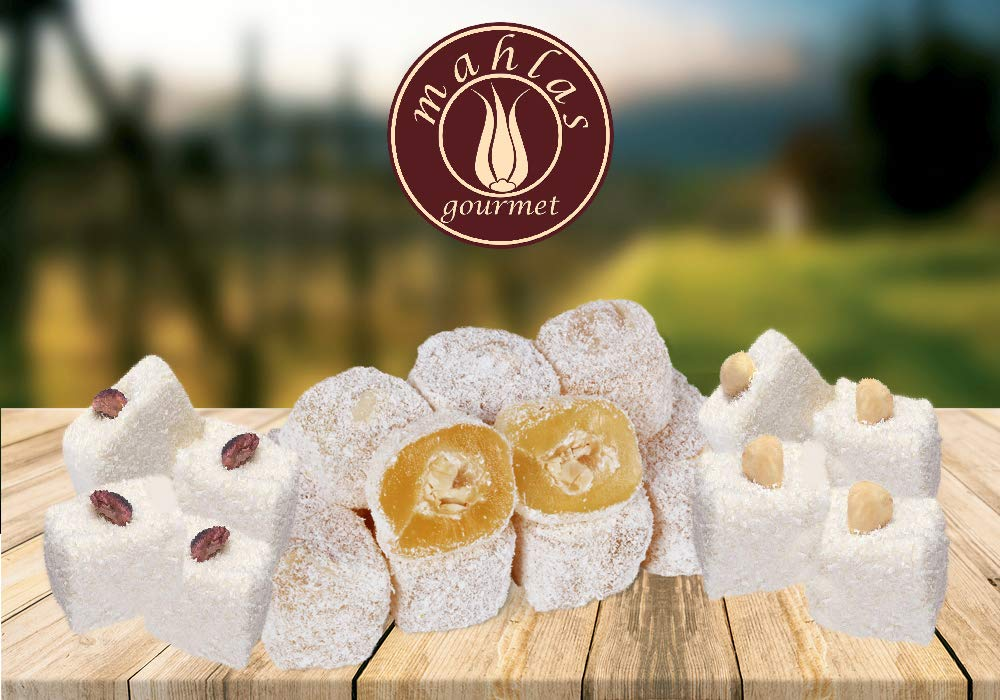 Mahlas Gourmet Turkish Delight - Traditional Sweet Halva From The 17th Century - Vegan Dessert With Pistachio And Hazelnut by Mahlas Gourmet (Image #2)
