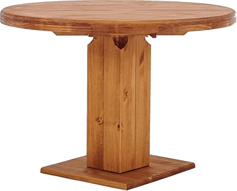 Brazilmobel Rio Uno Round Pillar Table 120 Cm Honey Table Dining Table Solid Pine Wood Dining Room Table Wood Kitchen Table Real Wood Choice Of Sizes And Colours Amazon De Kuche Haushalt