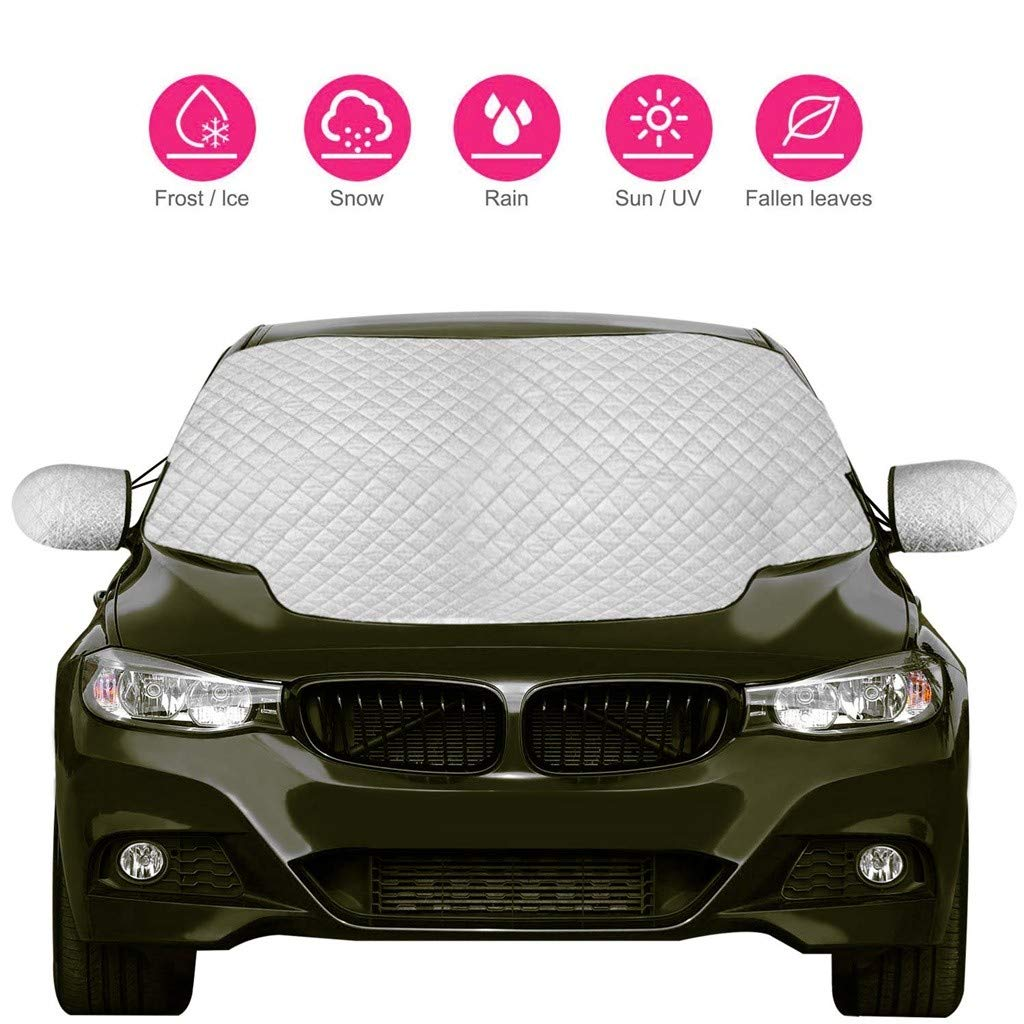 Pefect Fit for Cars SUVs All Years Summer//Winter Snow Ice Frost Sun UV Dust Water Resistent 147/×120cm Oyedens Car Windshield Frost Cover Heavy Duty Ultra Thick Protective Windscreen Cover