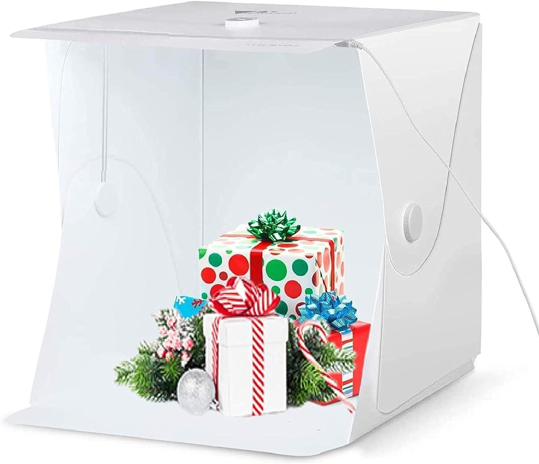 16x16 Photography Photo Studio Box Lightbox Light Tent Cube Box with 4 Colors Backdrops and Mini Tripod