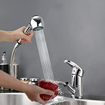 auralum® miscelatore cucina rubinetto con doccetta estraibile ... - Rubinetto Cucina Con Doccetta Estraibile
