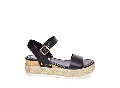 224a79318 Steve Madden Women s Chiara Black Leather Sandal ...