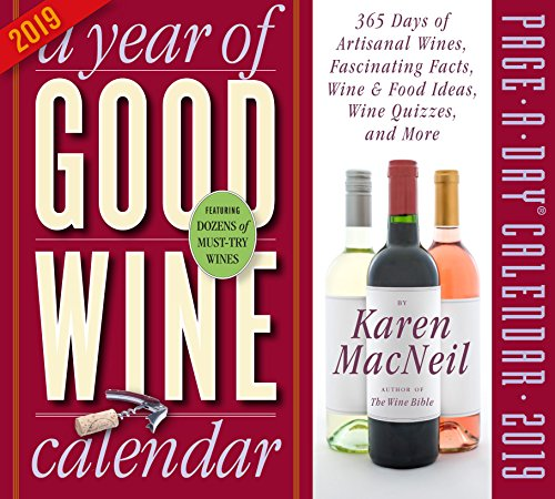 - A Year of Good Wine Page-A-Day Desk Calendar 2019 [5.5